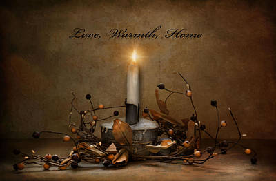 Photograph - Love Warmth Home by Robin-Lee Vieira