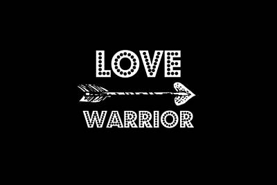 Digital Art - Love Warrior by Chastity Hoff