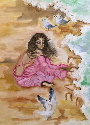 Love Washing Away Print by Sangeetha Bansal