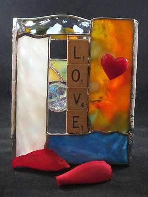 Glass Art - Love Window-sill Box by Karin Thue