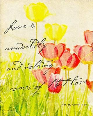 Love Words Art Print