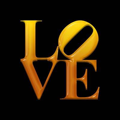 Phillies Digital Art - Love- Yellow N Orange2 by Becca Buecher