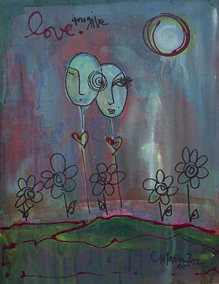 Painting - Love You Give Lollipops by Laurie Maves ART