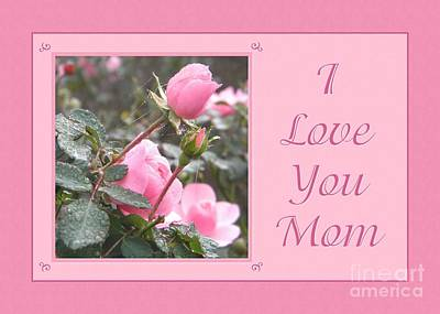 Digital Art - Love You Mom Bound With Love by JH Designs