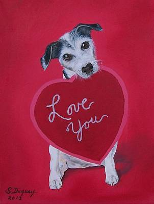 Painting - Love You by Sharon Duguay