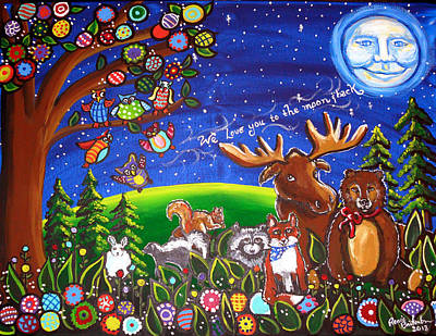 Love You To The Moon And Back Original by Renie Britenbucher