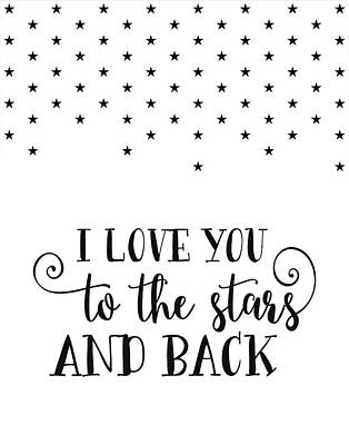 Love You To The Stars Art Print by Tara Moss
