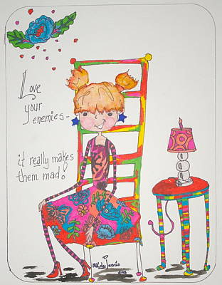 Drawing - Love Your Enemies by Mary Kay De Jesus