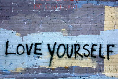 Vandalize Photograph - Love Yourself by Jacqueline Athmann