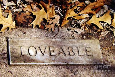 Photograph - Loveable by Brigitte Emme