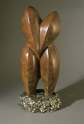 Lovebirds - Bronze  Art Print by Manuel Abascal