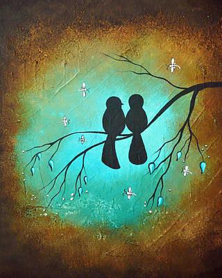 Lovebird Wall Art - Painting - Lovebirds by Charlene Murray Zatloukal