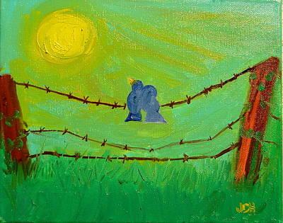 Lovebirds Original by Joseph Hawkins