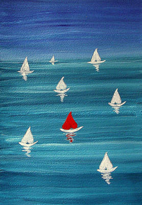 Painting - Loveboats by Sandy Wager