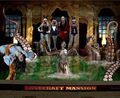 Universal Rock Digital Art - Lovecraft Mansion by Jack Joya