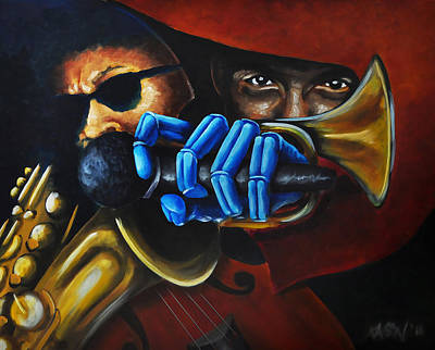 Painting - Lovejazzrobotz by Ka-Son Reeves
