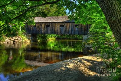 Historic Bridge Photograph - Lovejoy Covered Bridge 2 by Mel Steinhauer