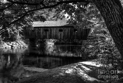 Photograph - Lovejoy Covered Bridge 2bw by Mel Steinhauer