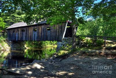 Photograph - Lovejoy Covered Bridge by Mel Steinhauer
