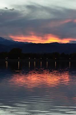 Photograph - Loveland City Sunset by Rae Ann  M Garrett