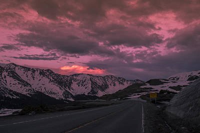Loveland Pass Sunset Art Print