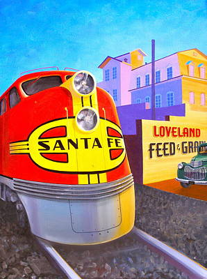 Loveland's Feed And Grain Art Print by Alan Johnson