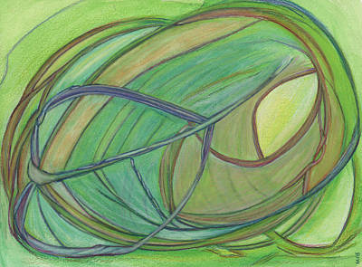 Abstract Drawings - Loveliness arises by Kelly K H B