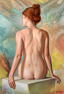 Figures Painting - Lovely Back-becca In Abstract by Paul Krapf