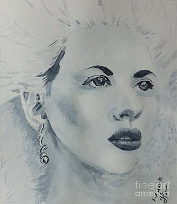 Grisaille Painting - Lovely Blond by Natalie Sokolova