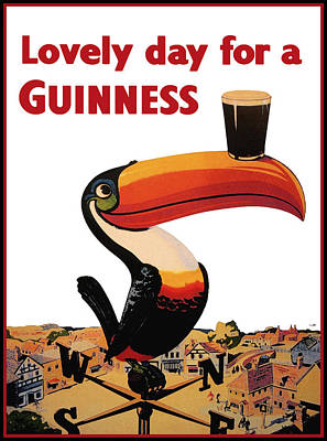 Vintage Digital Art - Lovely Day For A Guinness by Georgia Fowler