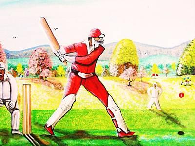 Lovely Day For Cricket. Art Print by Roejae Baptiste