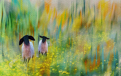 Painting - Lovely Day Sheep by Jean Moore