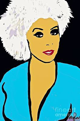 Lovely Diannah #2 Art Print by Saundra Myles