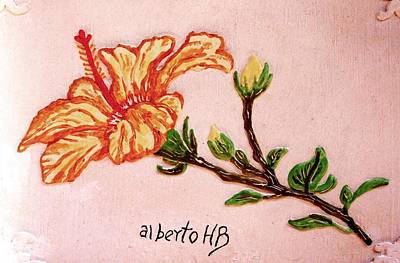 Relief - Lovely Hibiscus by Alberto H-B