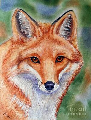 Red Fox Painting - Lovely Lady by Patricia Pushaw