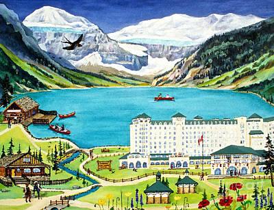 Lovely Lake Louise Art Print by Virginia Ann Hemingson