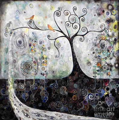 Tree Roots Painting - Lovely Landscape by Manami Lingerfelt