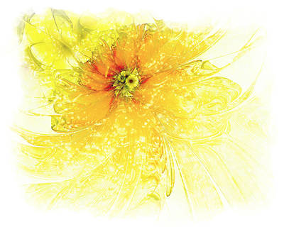 Floral Digital Art Digital Art - Lovely Lemon by Amanda Moore