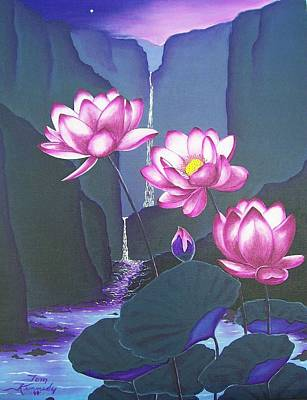 Painting - Lovely Lotus by Thomas F Kennedy