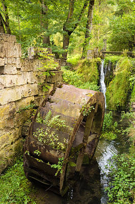 Photograph - Lovely Old Mill Wheel In Small River by Matthias Hauser