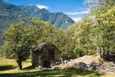 Photograph - Lovely Old Stone House In Beautiful Landscape Ticino Switzerland by Matthias Hauser