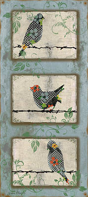 Lovely Song Bird Trio - 2 Original by Jean Plout
