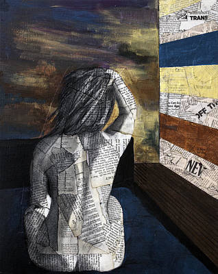 Nude Girl Mixed Media - Lover In A Hotel South Of Houston Street by Giorgio Russo