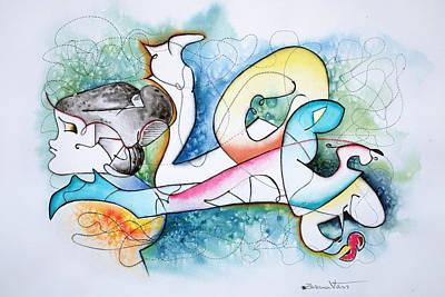 Wall Art - Painting - Lover by Zuzana Vass