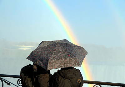 Photograph - Lovers And Rainbow by Valentino Visentini
