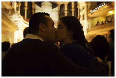 Lovers At Palau De La Musica Catalana - Barcelona Art Print by Madeline Ellis