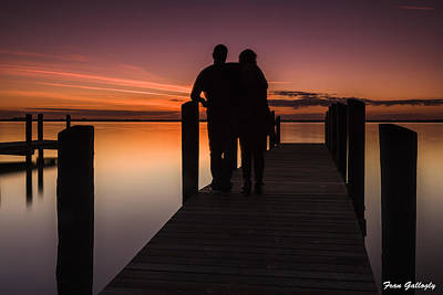 Photograph - Lovers At Twilight by Fran Gallogly