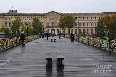 Photograph - Lover's Bridge Paris by Haleh Mahbod
