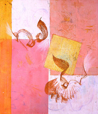 Painting - Lovers Dance 2 In Sienna And Pink  by Asha Carolyn Young