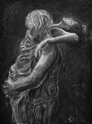 Painting - Lovers-grey Shades by Nik Helbig